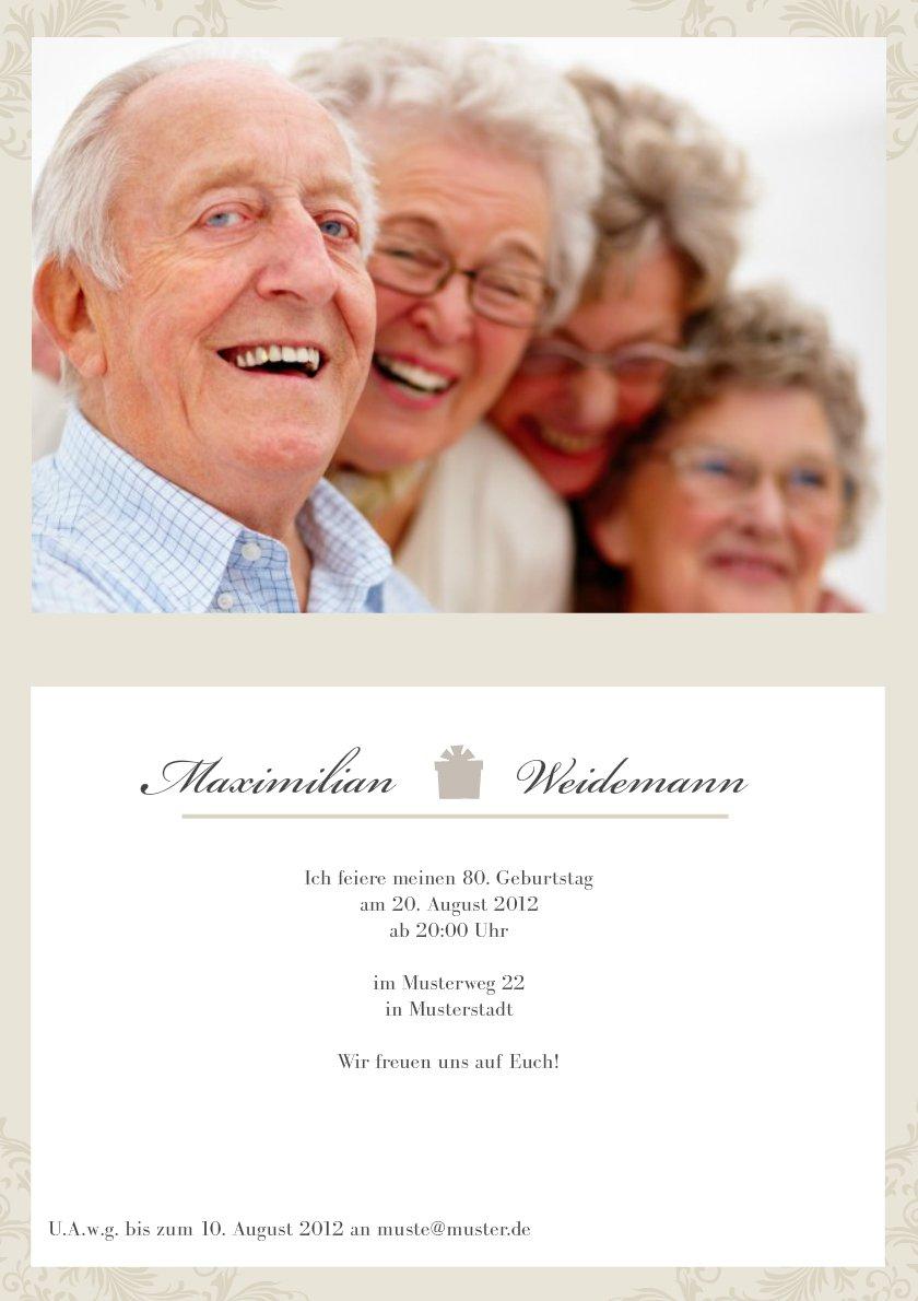 Einladungskarten 80 Geburtstag: Einladung 80 Geburtstag : Einladung 80. Geburtstag