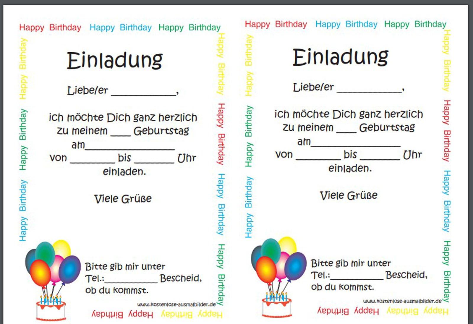 Einladungen Geburtstag Kostenlos : Einladungen Geburtstag Kostenlos ...