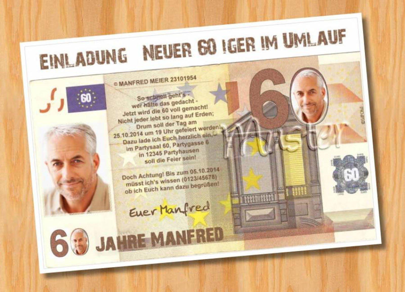 Einladungskarten 60 Geburtstag Einladungskarten 60: Einladungen Zum 60 Geburtstag : Einladungen Zum 60