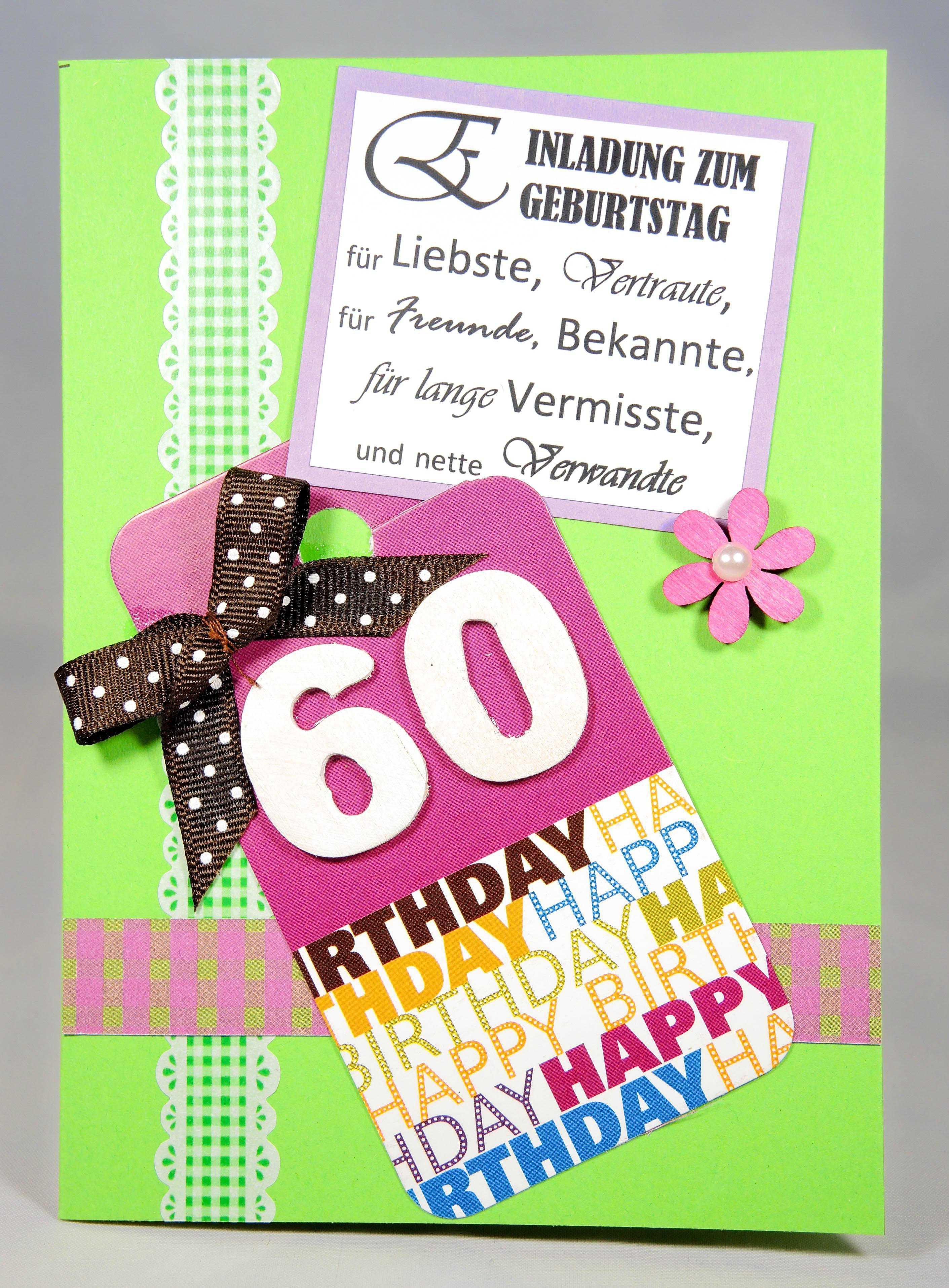 Einladung 60 Geburtstag Lustig