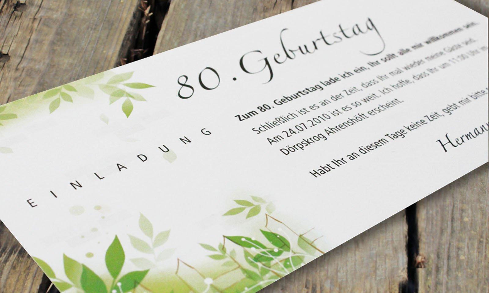 einladung 80 geburtstag : einladung 80 geburtstag gedicht