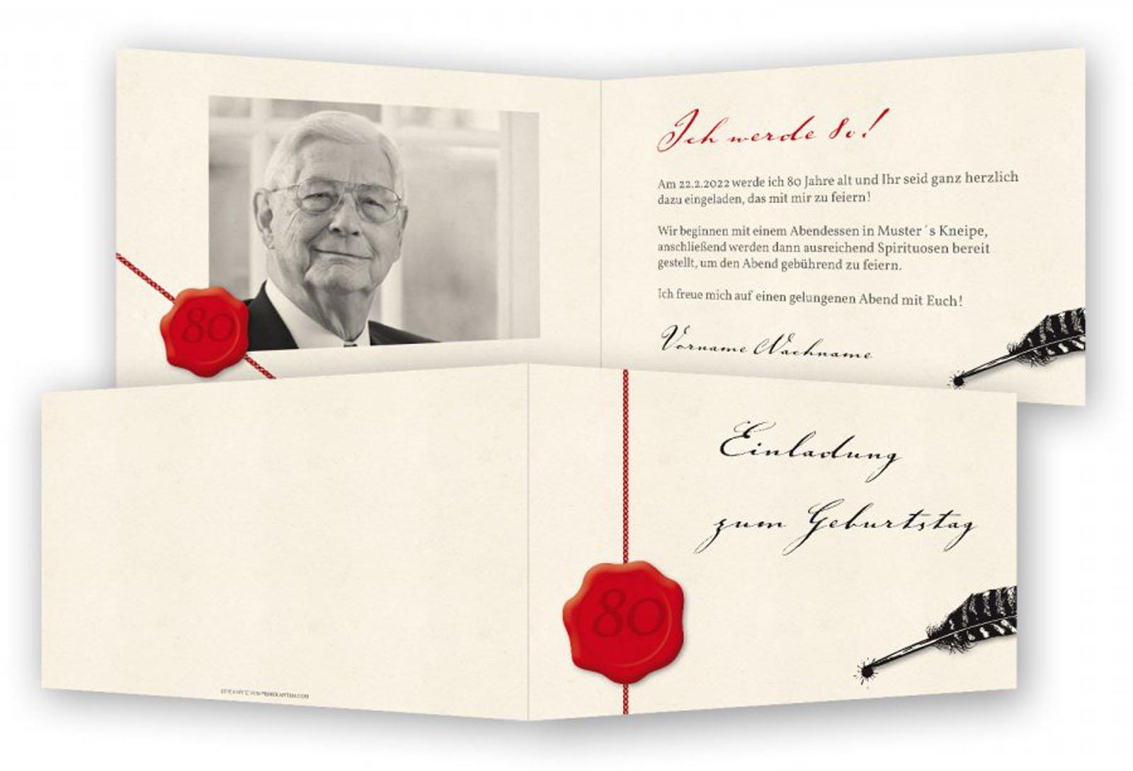 einladung 80 geburtstag : einladung 80 geburtstag spruch, Einladung