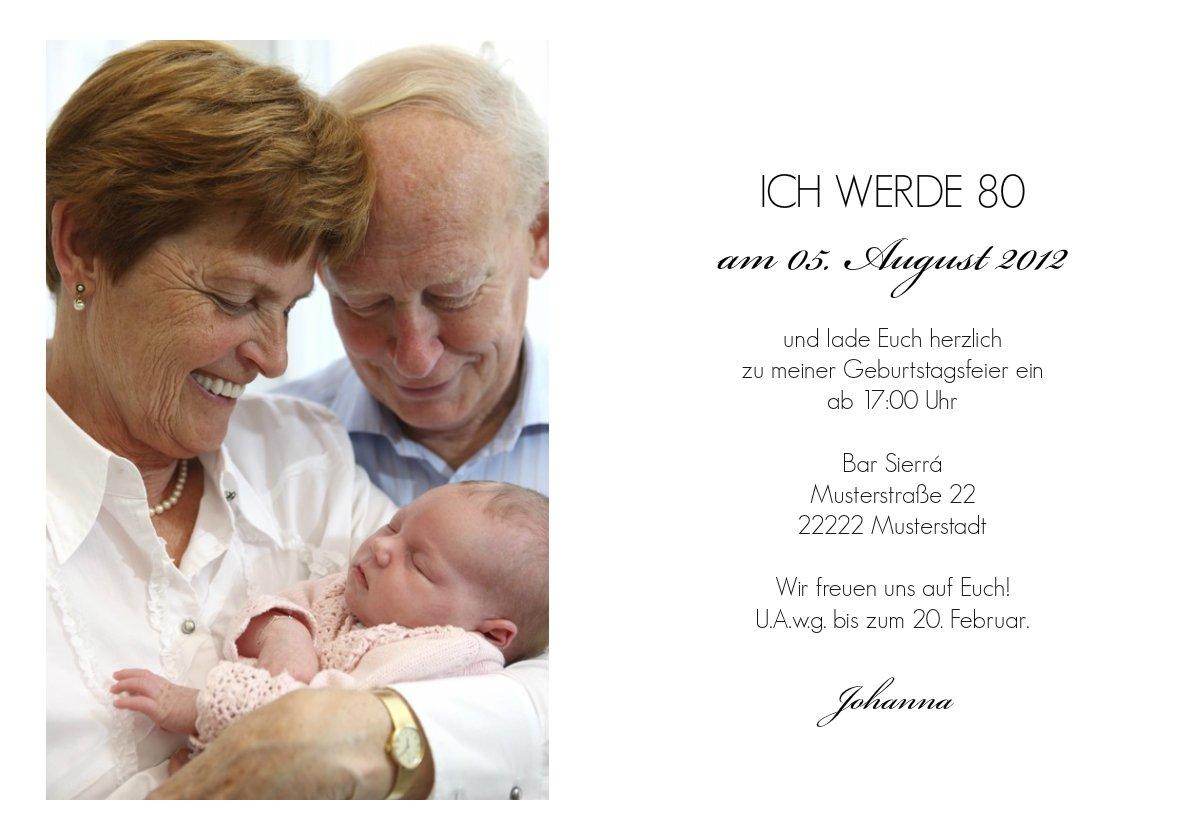 Einladung 80 Geburtstag