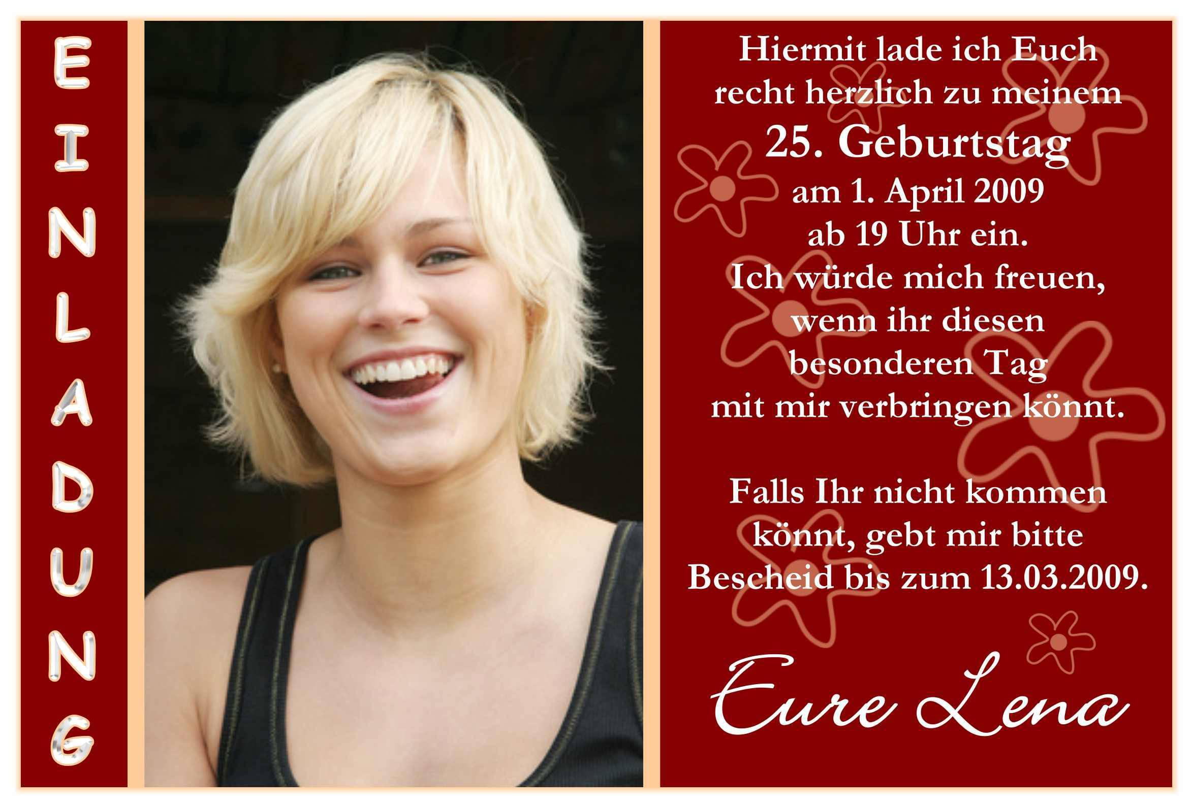 Einladung Geburtstag : Einladung Geburtstag Vorlage Word - Geburstag ...