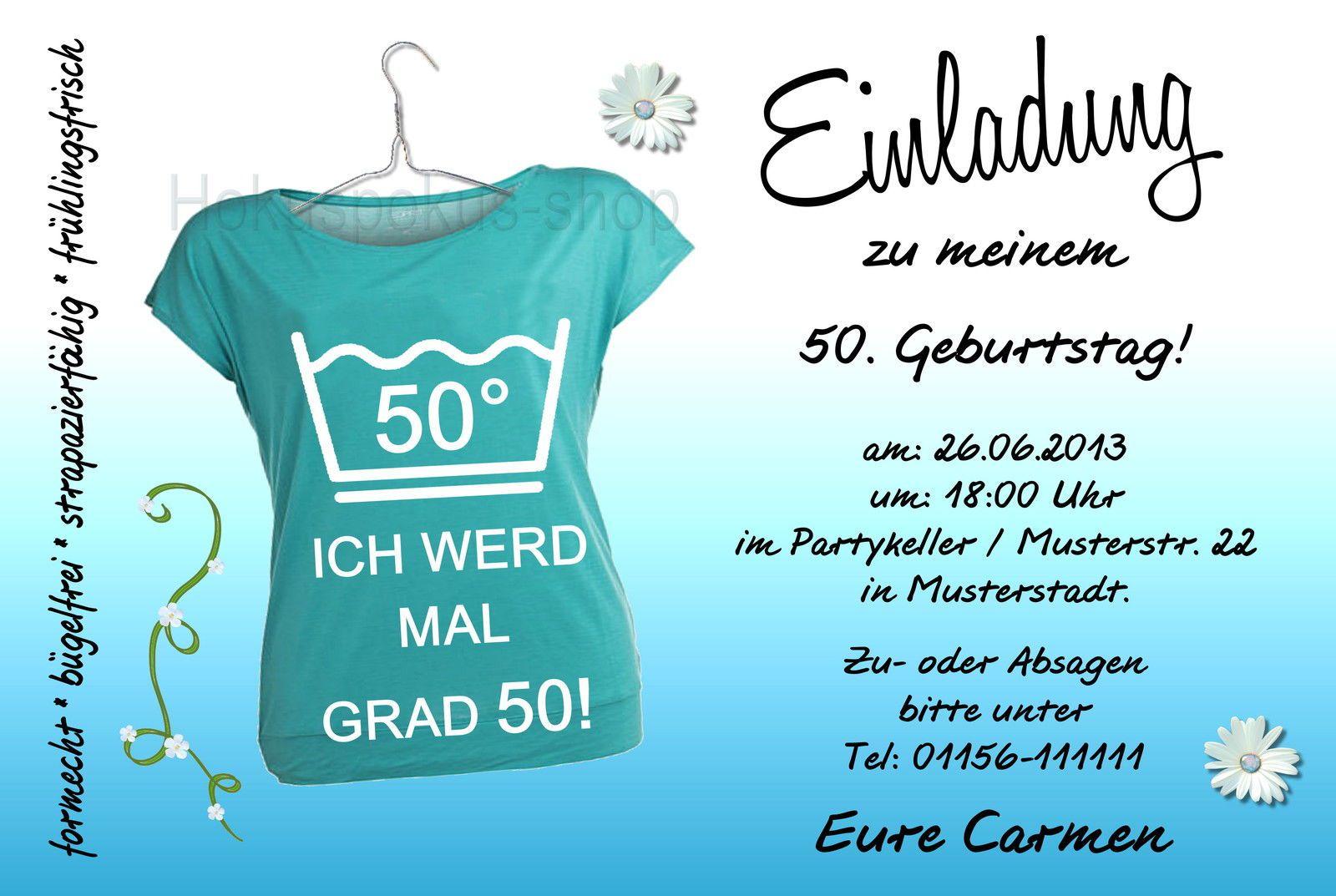 More Article From Einladung Zum Geburtstag. Einladung 50 Geburtstag Lustig