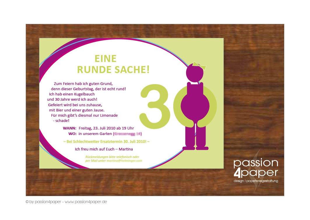 30 geburtstag einladung einladungskarten online - Einladungskarten geburtstag kostenlos gestalten ausdrucken ...