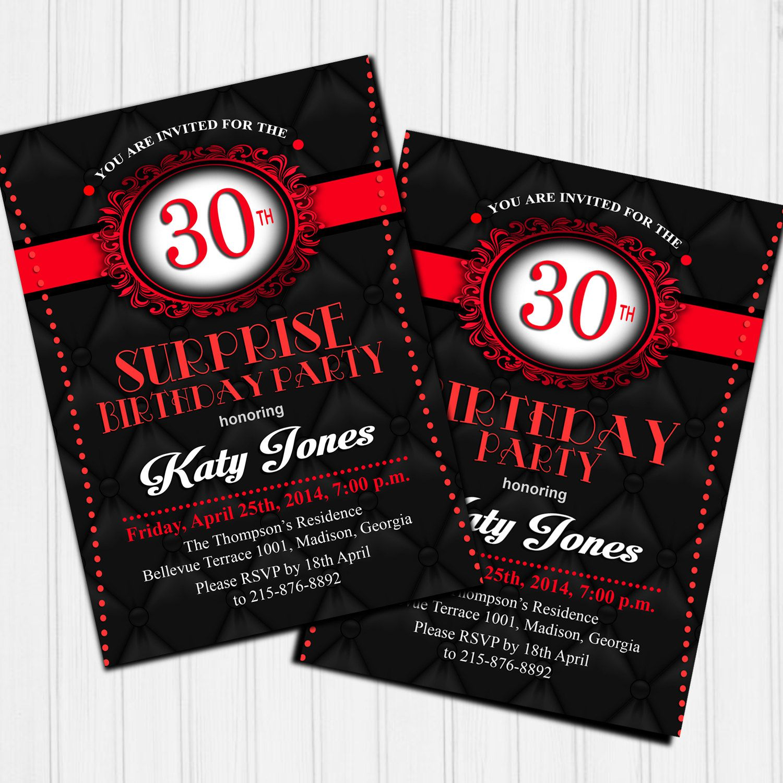 30 geburtstag einladung 30 geburtstag geburstag einladungskarten geburstag. Black Bedroom Furniture Sets. Home Design Ideas