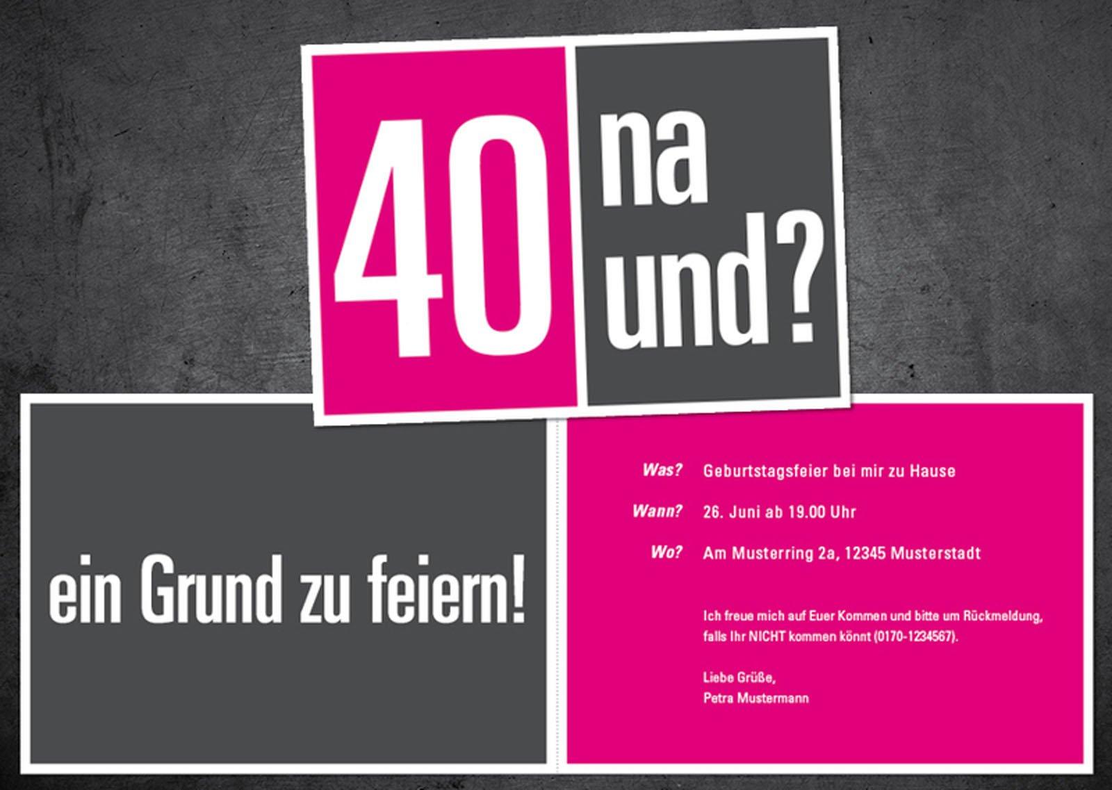 40 Geburtstag Einladung 40 Geburtstag Einladungstext Geburstag