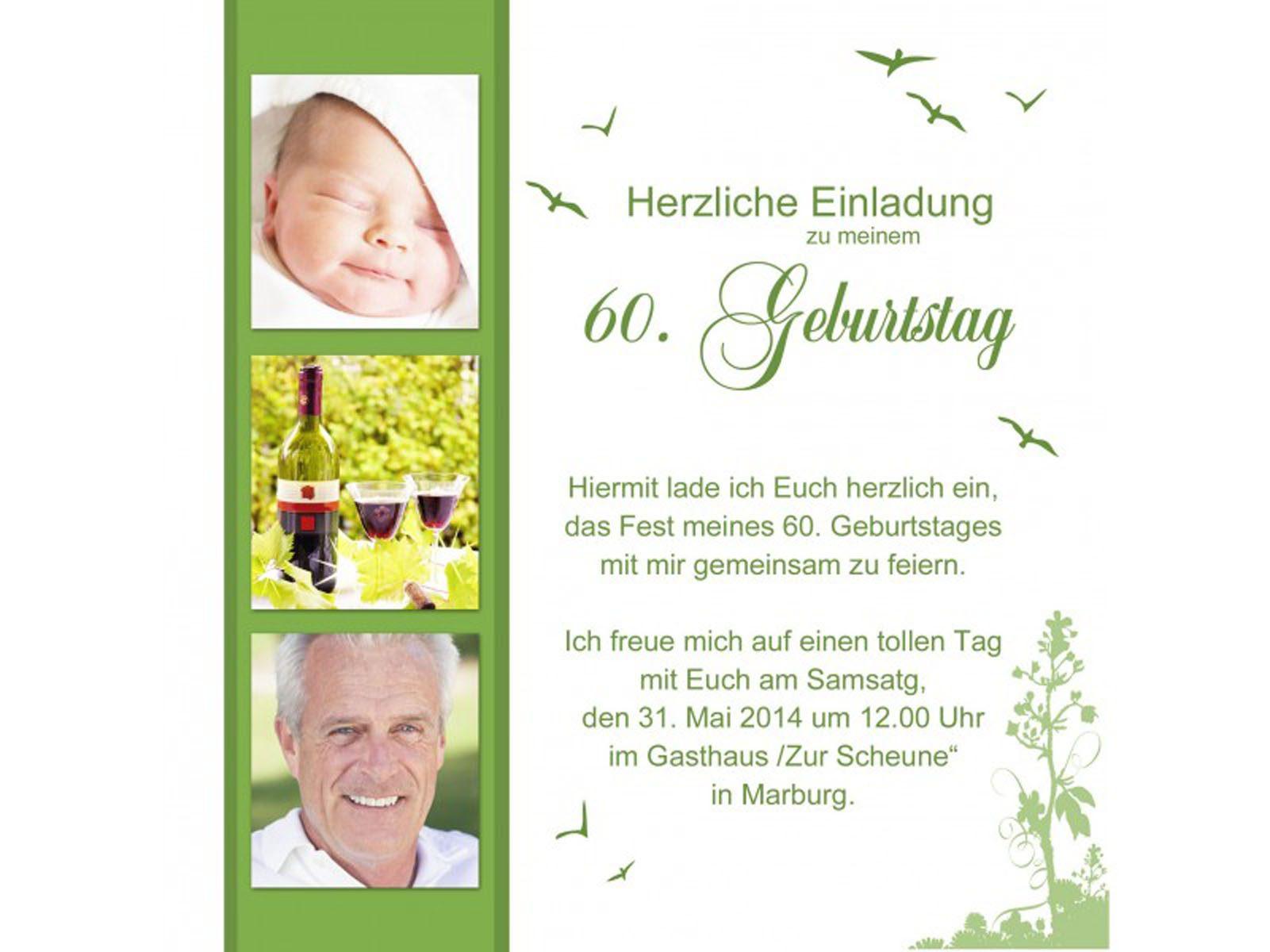 60 Geburtstag Einladung : 60 Geburtstag Einladung Sprüche - Geburstag Einladungskarten ...