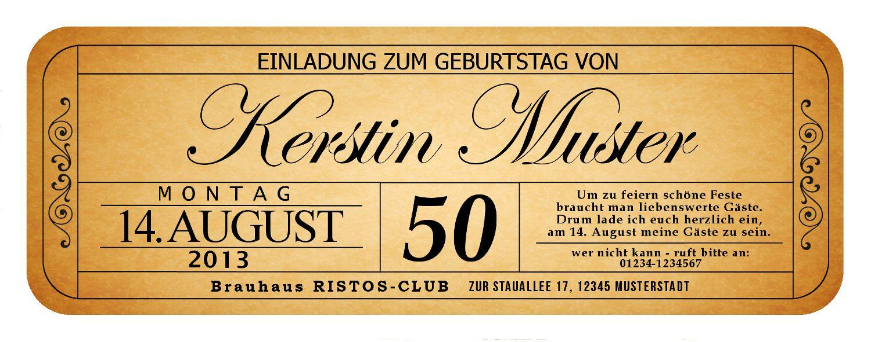 Bilder Für Einladungen Zum 50. Geburtstag