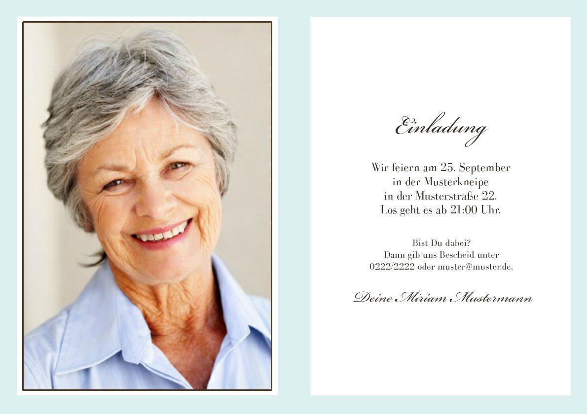 einladungen zum 60 geburtstag : einladungen zum 60. geburtstag, Einladungsentwurf