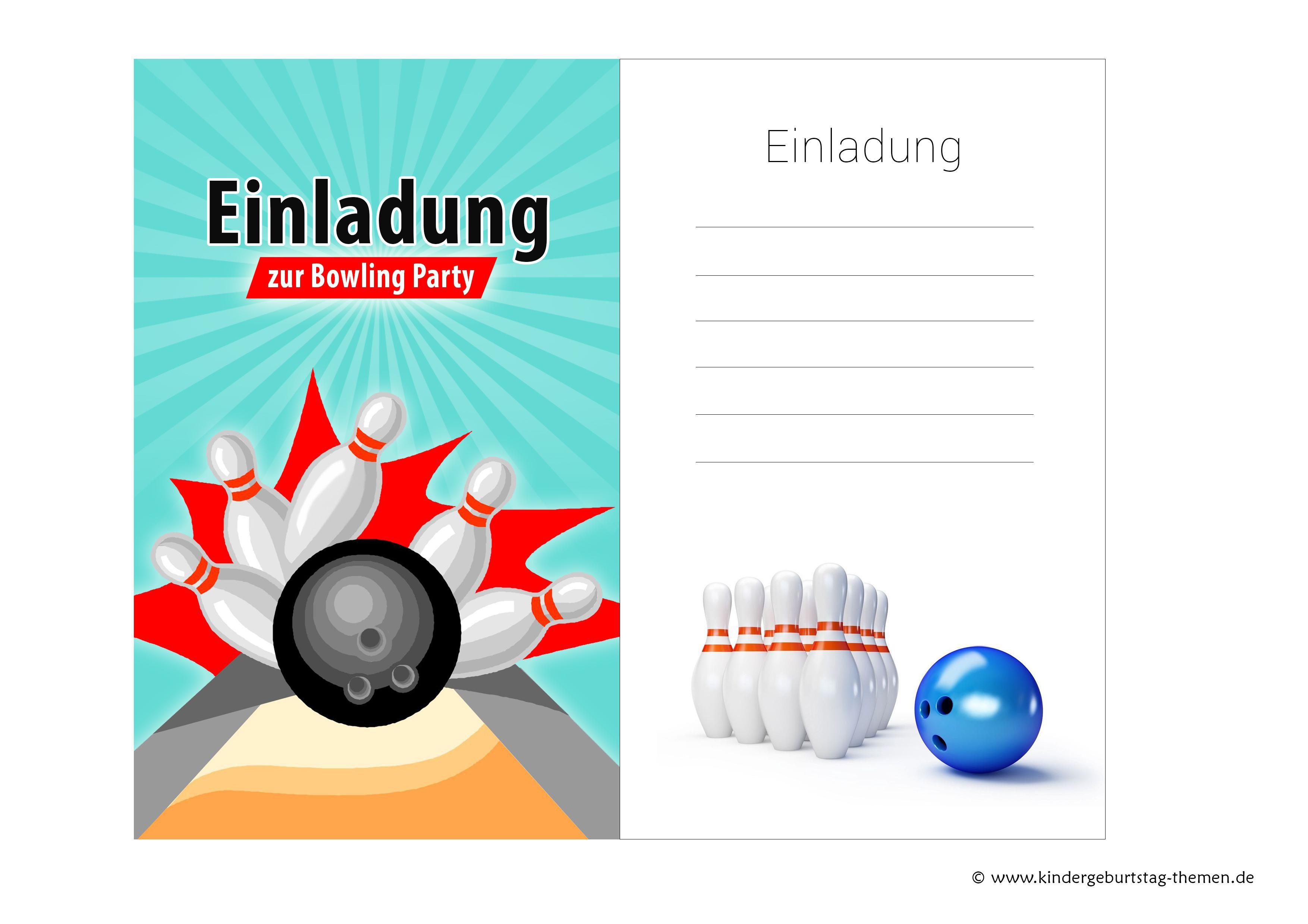 Related Image For Einladung Bowling Geburtstag Kostenlos