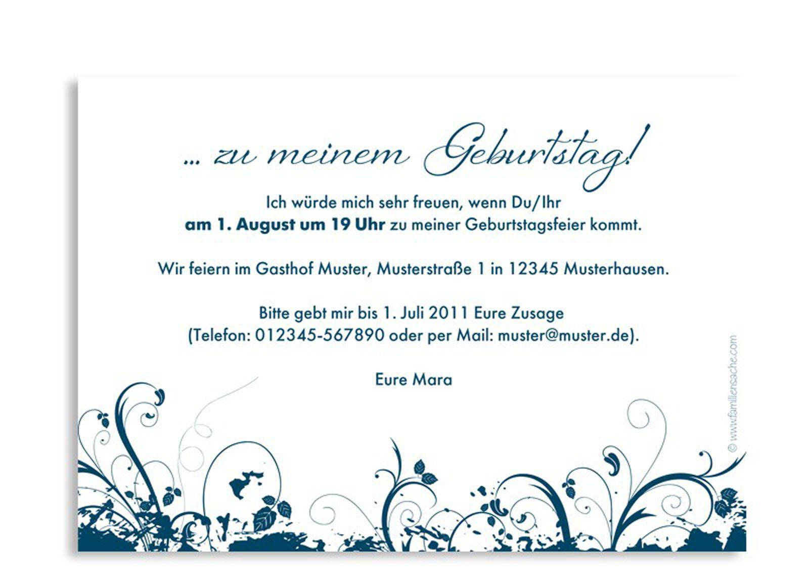einladung geburtstag text : einladung erster geburtstag text, Einladung