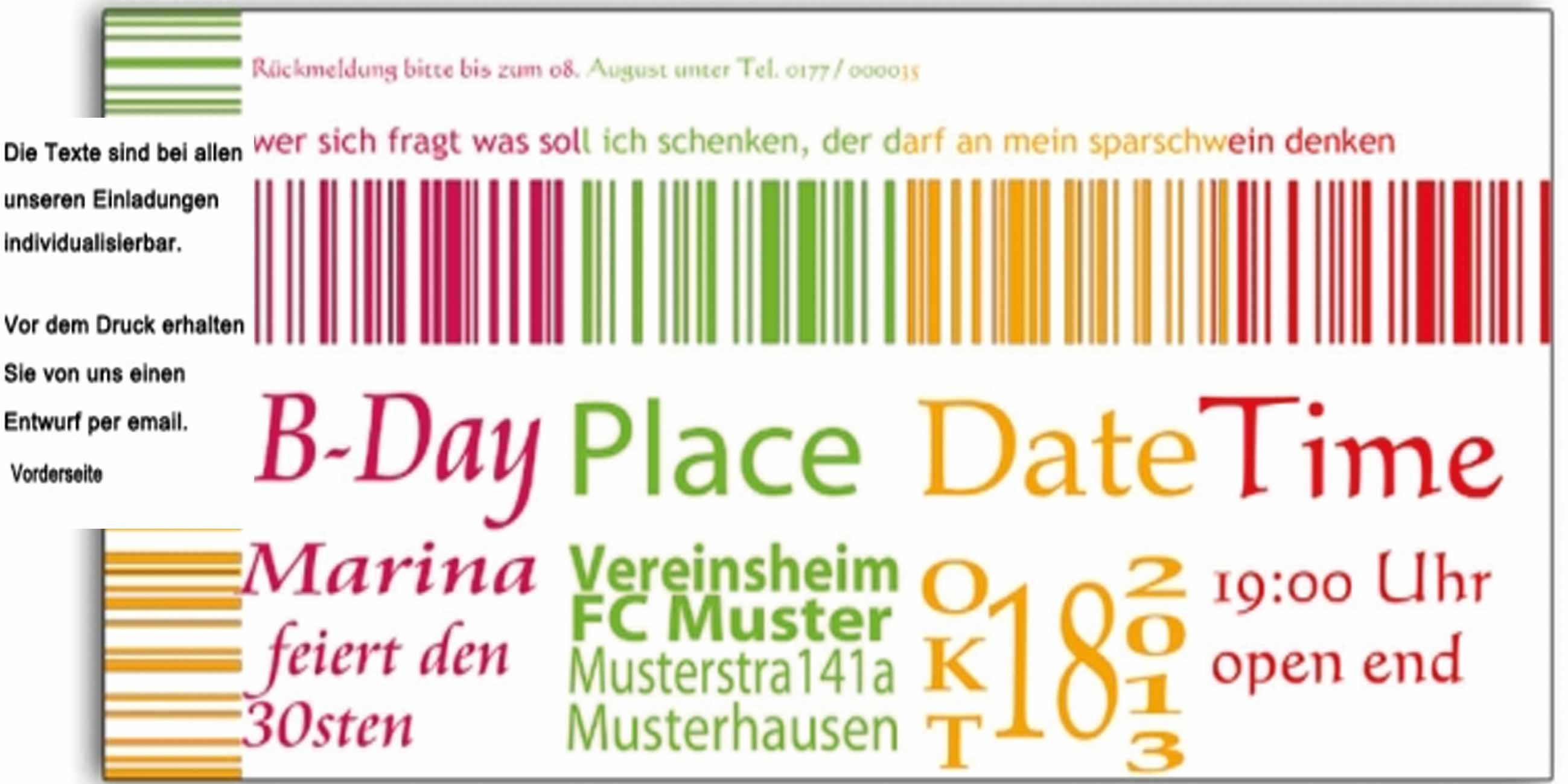 einladung geburtstag : einladung zum 30 geburtstag - geburstag, Einladung
