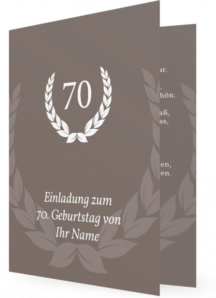 einladung zum 70 geburtstag : einladung zum 70 geburtstag vorlage, Einladung