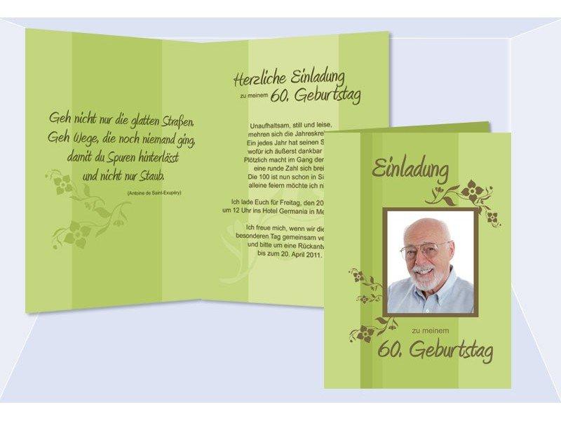 More Article From Einladungen 60 Geburtstag