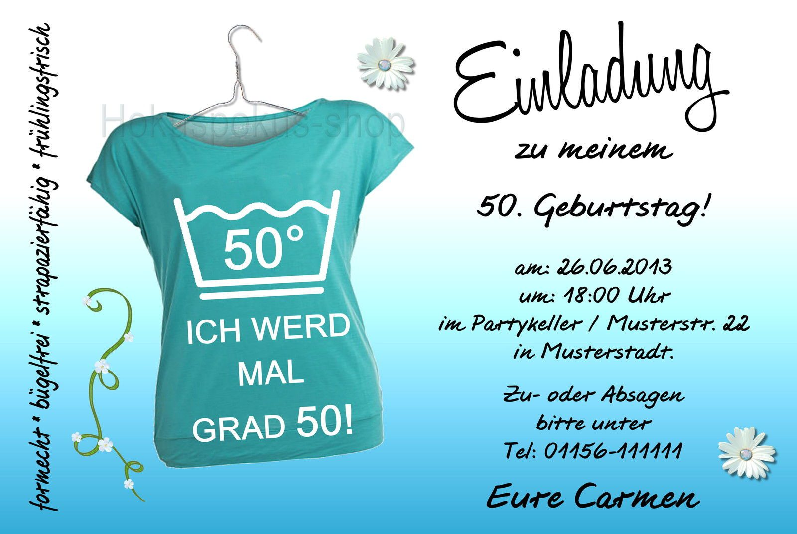 More Article From Einladungen 50 Geburtstag