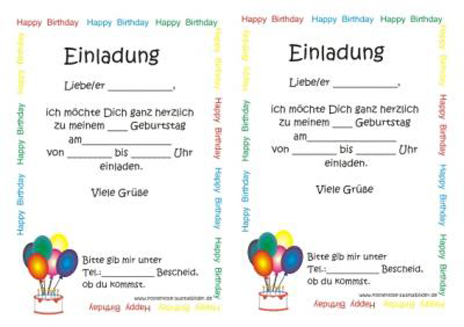 More Article From Geburtstag Einladung Kind