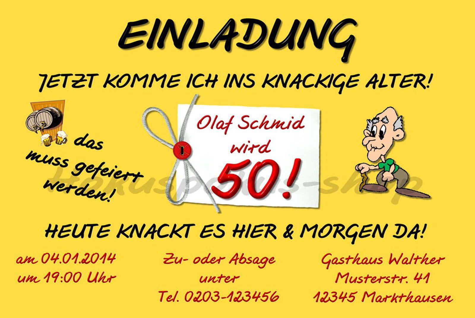 Einladung 50 Geburtstag Lustig Einladungstexte 50 Geburtstag
