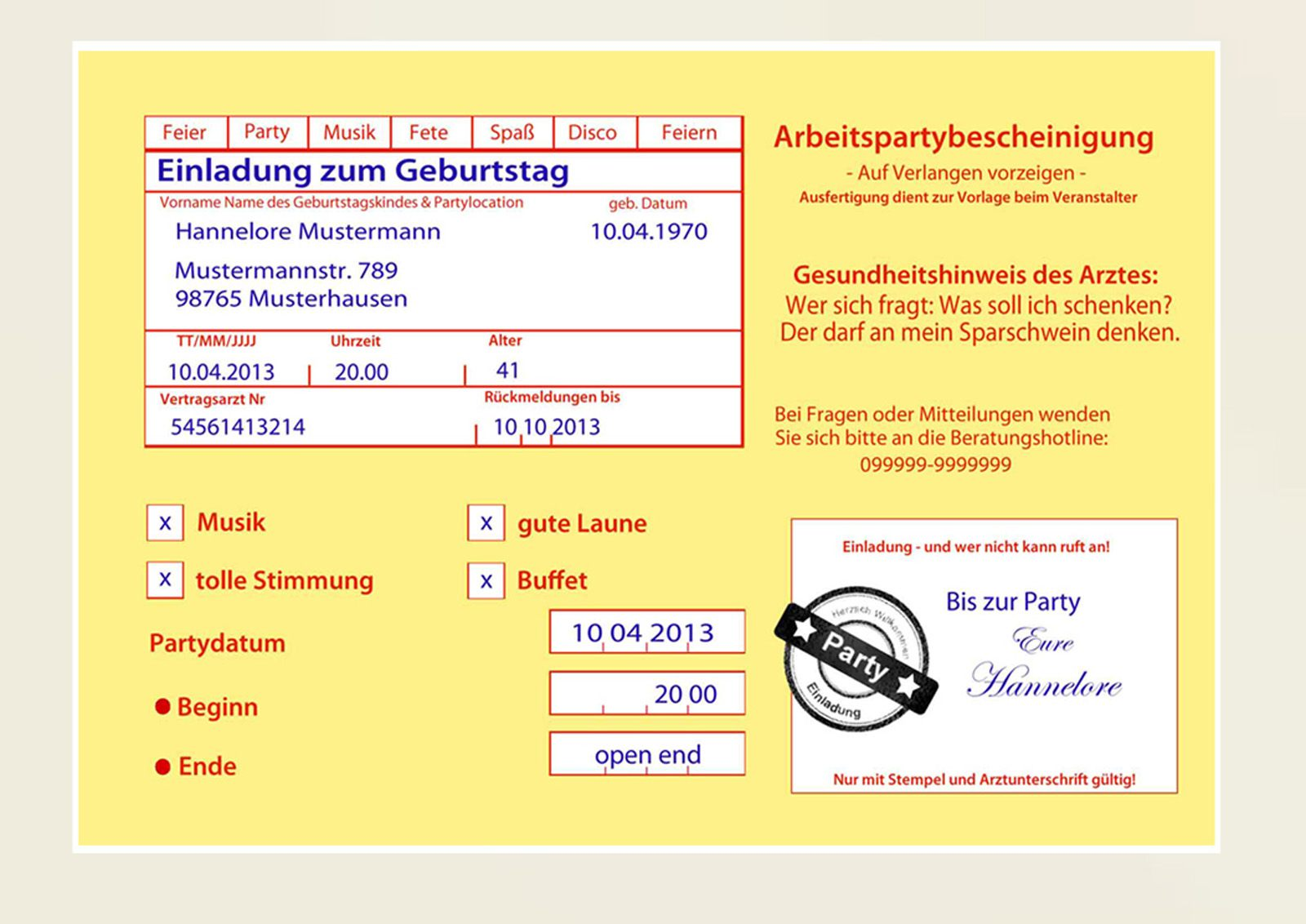 Einladungen Geburtstag: Einladung 50 Geburtstag Lustig : Sprüche Einladung 50