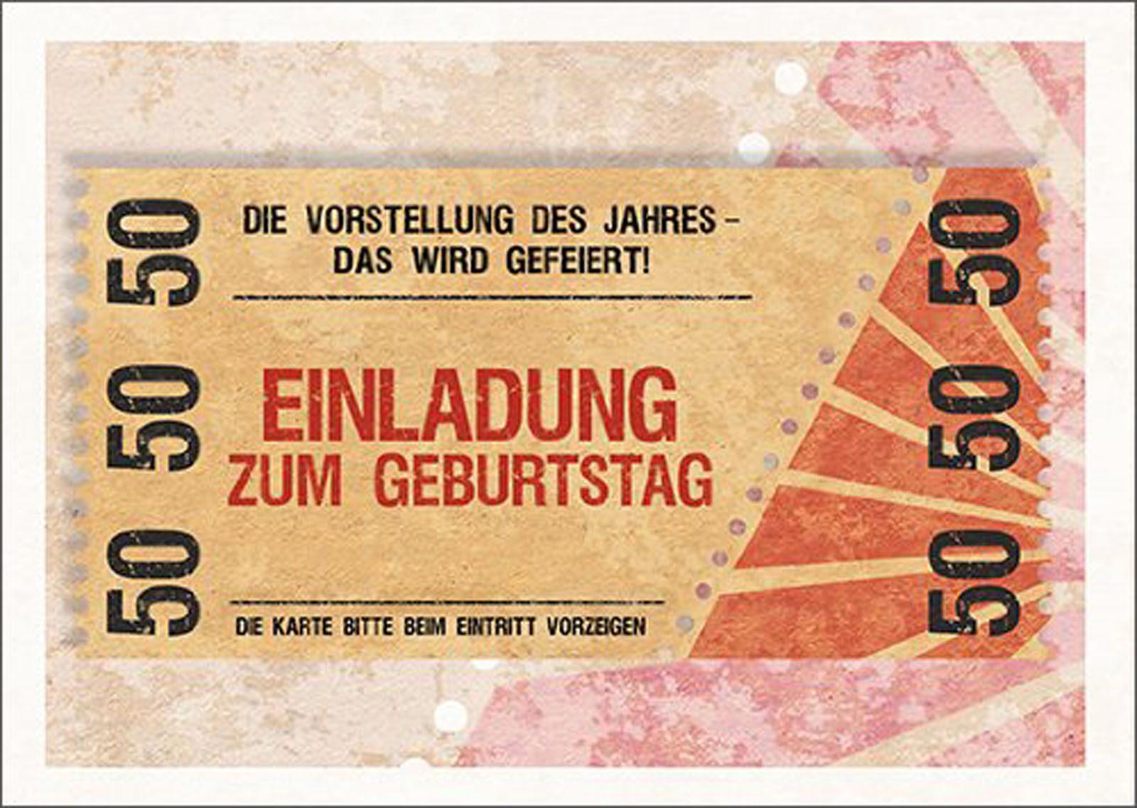 50 geburtstag einladungskarten ideen