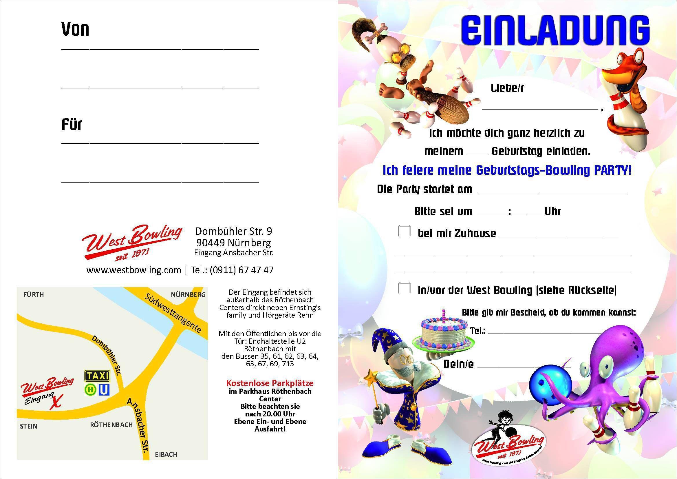 einladungskarten geburtstag vorlagen : einladungen