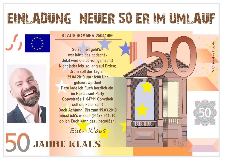 Einladungskarten 50 Geburtstag Vorlagen Kostenlos