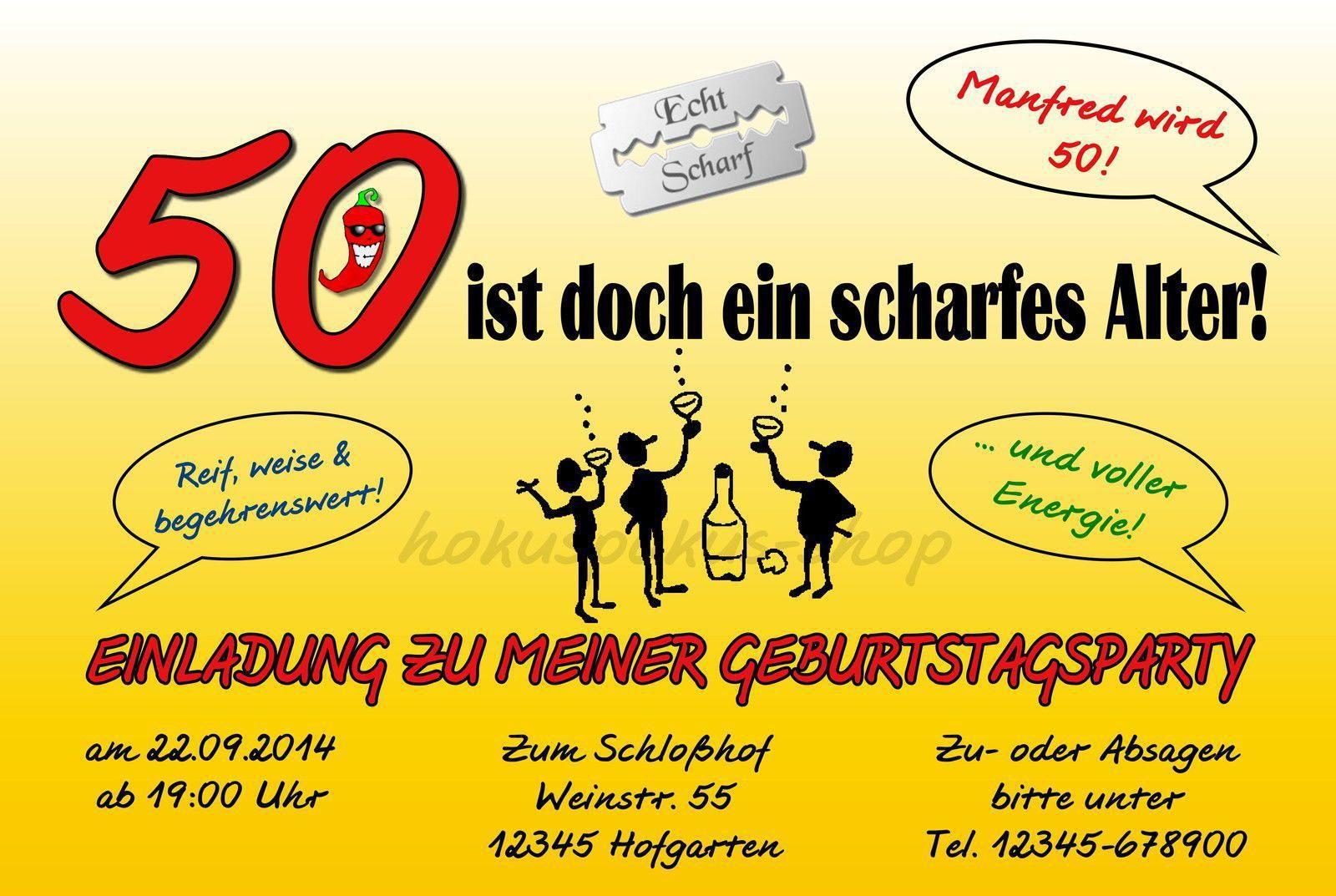 einladungskarte 50 geburtstag : einladungskarte 50