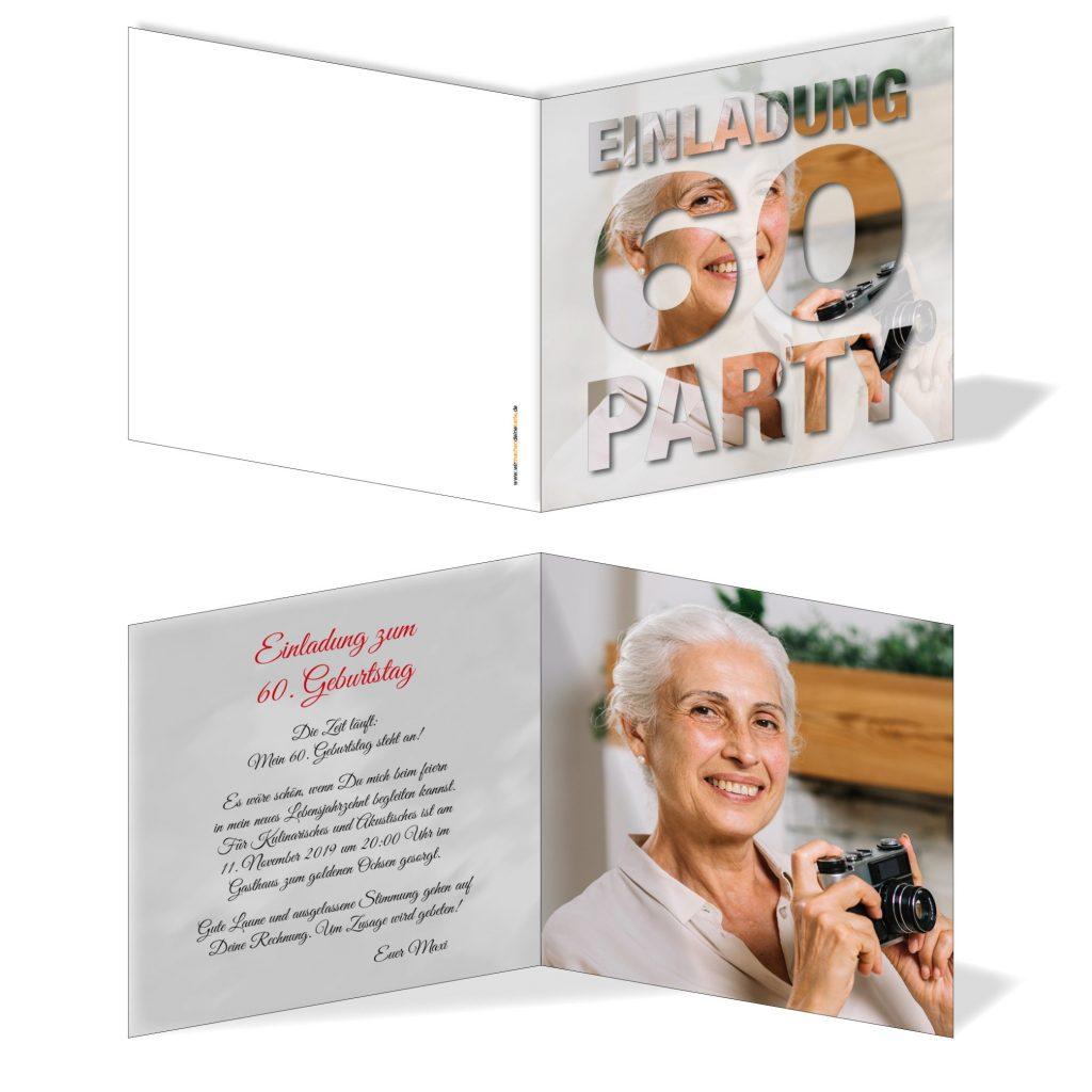 60 geburtstag einladungskarten : einladungskarten 60