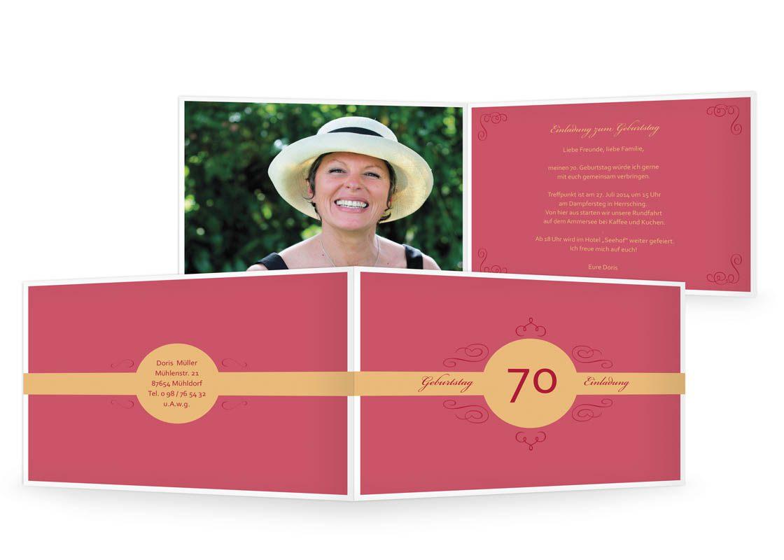 einladungskarten 70 geburtstag : einladungskarten 70