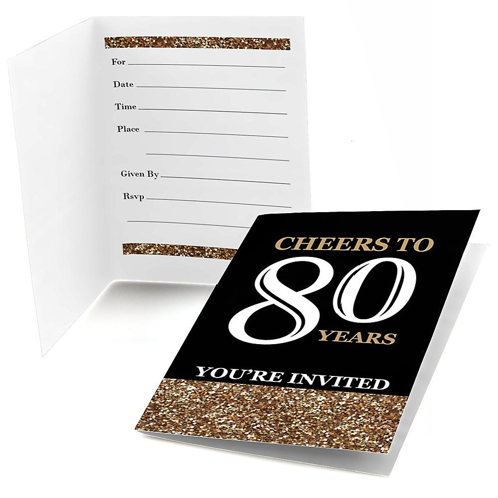 einladungskarte 80 geburtstag : einladungskarten 80