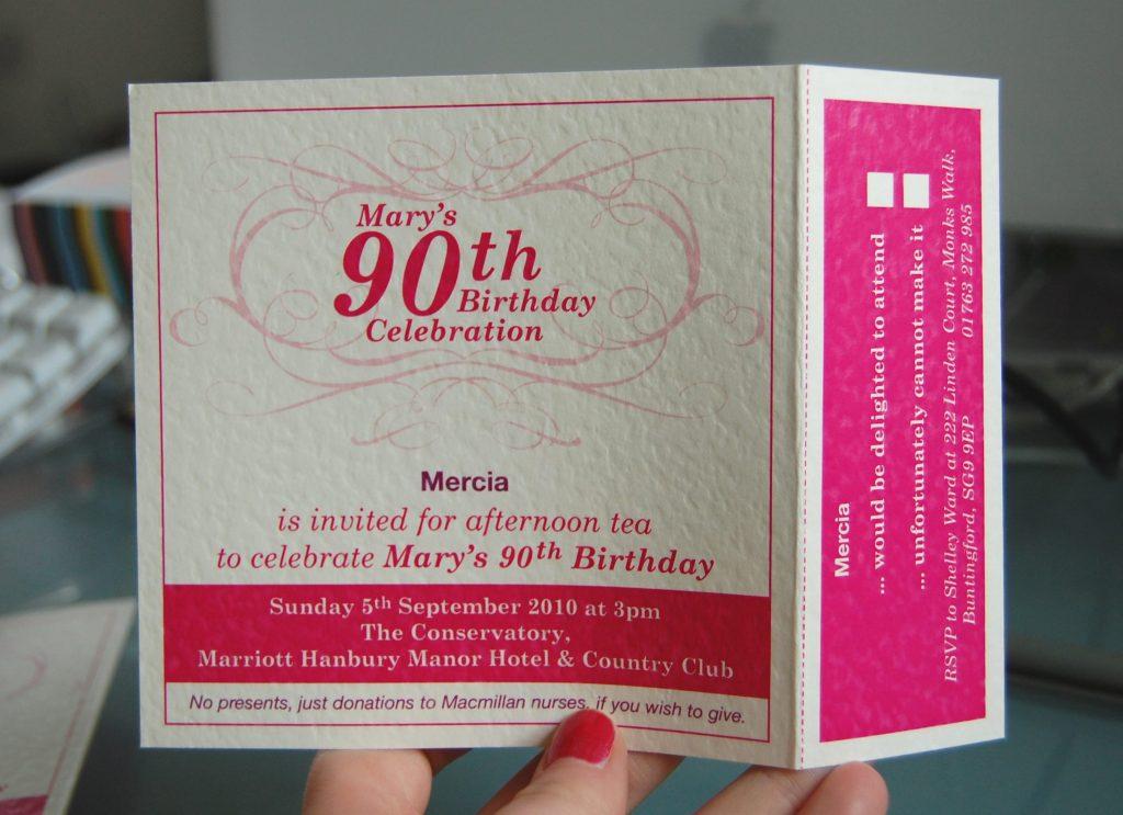 einladungskarten 90 geburtstag : einladungskarten 90