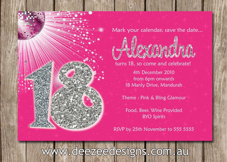 Einladungskarten Zum 18 Geburtstag : Coole