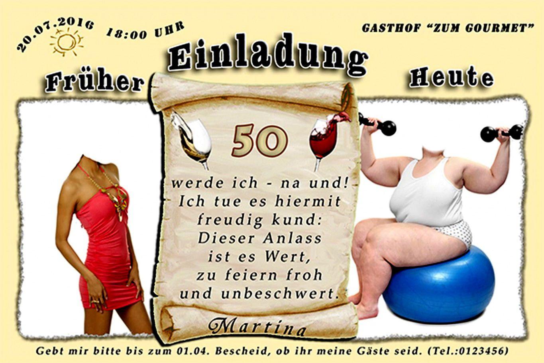 einladungskarten 50 geburtstag lustig : einladungstext 50